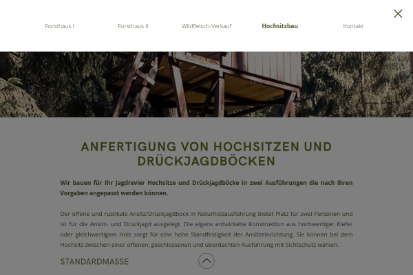 Webdesign Forsthaus am Zenssee 3