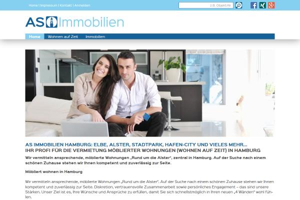 Webdesign AS Immobilien Hamburg