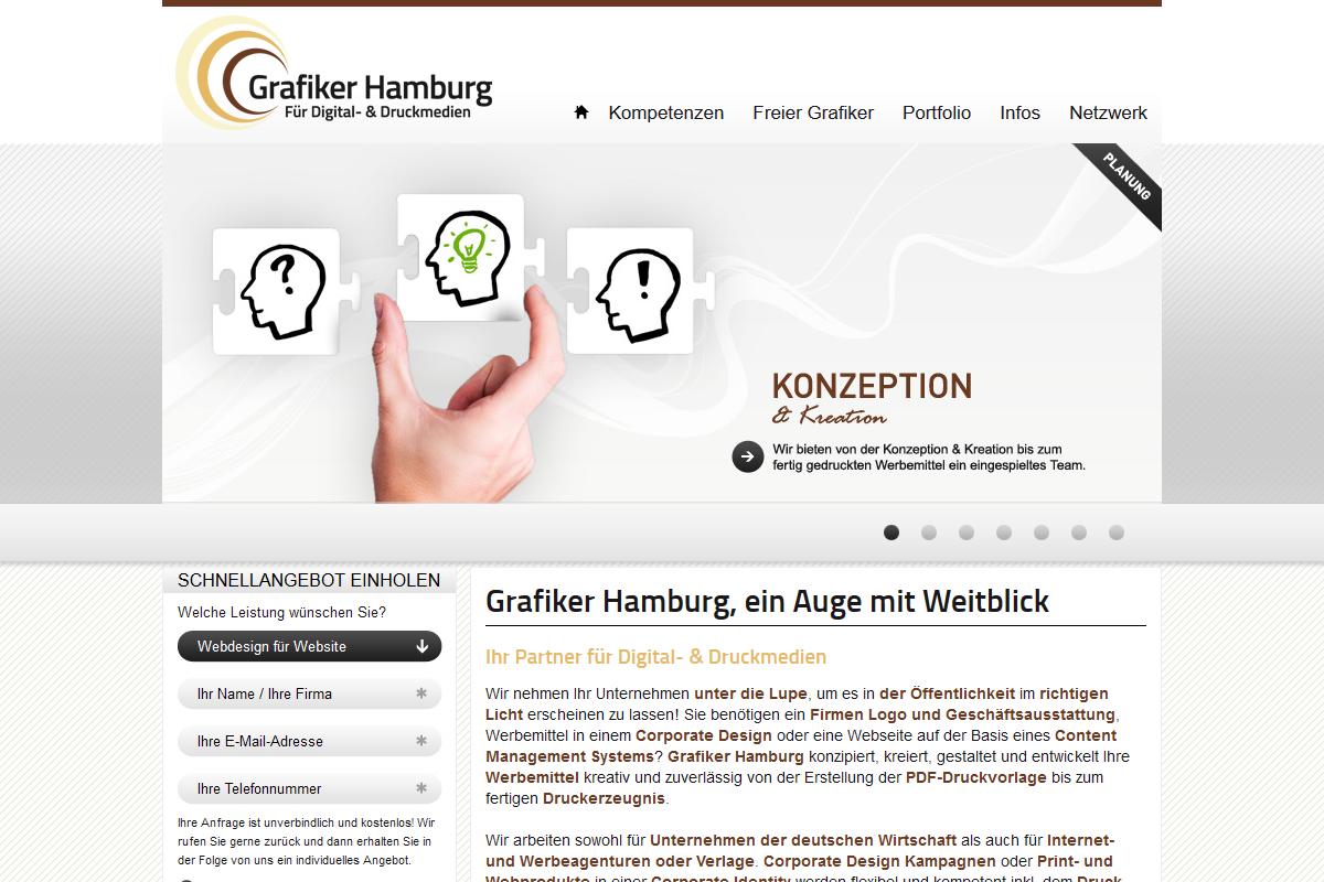 Unsere referenzen f r webentwicklung und webdesign in for Grafiker hamburg